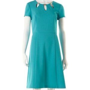 Cleo | aqua midi dress